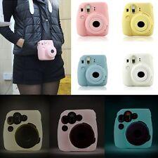Color Soft Case Camera Skin Cover Silicone Noctilucent for FUJI Instax Mini 8/9