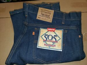 NWT VTG Levis Strauss 505 Orange Tab Regular Fit Straight Leg Jeans Size 38 x 30