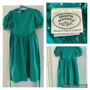 Vintage Laura Ashley Dress With Pockets 80's Made In Rep Of Ireland Age 5-6 Yrs