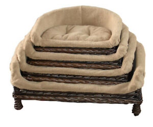 Handmade Oval Wicker, willow dog& cat basket, sofa basket, Grey and Dark