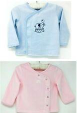 New Baby Boys Girls Pink Blue Soft Warm Velour Cotton Cardigan Jacket Winter Top