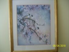 Original Painting On Silk By LENA LIU Framed And Matted Under Glass Signed