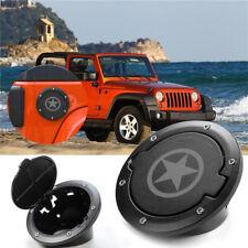 Fit For 2012 2013 2014 Jeep Wrangler Jk Fuel Door Gas Lid Tank Cap Cover Black