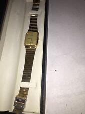 Classic Citizen Seven Men's Quartz watch Vintage 1984 Gold Tone square faced