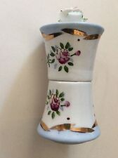 Rare Vintage Occupied Japan Hand Painted Bone China Floral Covered Table Lighter