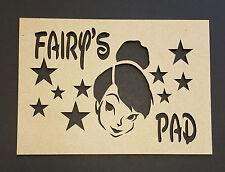FATA porta targa MDF preventivo Wall Art Craft Forma Compleanno Bambini Nursery
