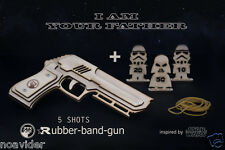 Rubber Band Gun With 'Star Wars' Targets. Geekery, Gift For Him. Darth Vader