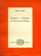FALQUI Enrico, Prosatori e narratori del Novecento italiano