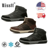 Mens Winter Snow Ankle Boots Fur Lined Casual Waterproof Warm Outdoor Shoes Size
