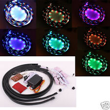 7 Color LED Strip Under Car Tube underglow Underbody Neon Lights Kit 2Ft x 3Ft