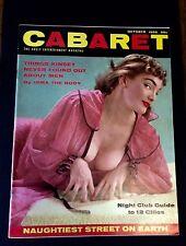 Cabaret Magazine October 1956 Burlesque Pin Up Girls Showgirls Centerfold