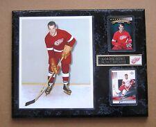 "Detroit Red Wings Gordie Howe - Color Rookie Photo Plaque 12"" x 15"""