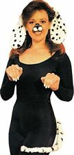 Dalmatian Dog Ears and Tail Set White/Black - Child Teen Adult