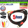 HDMI Male To 3 RCA Video Audio AV Component Converter Adapter Cable HDTV 1080