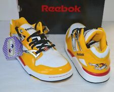 New Reebok VOLTRON Pro Omni Lite Low Black/White/Silver/Yellow Lion Pump Rare 8