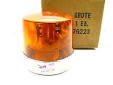 Grote 76223 2 Sealed Beam Roto Beacon Strobe Light Stainless Steel AMBER