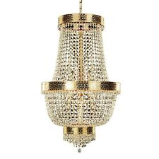Chandelier IN Gold Polished With Crystals Molati. 8 Lights For All The Scents