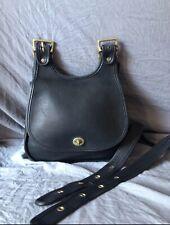 Vintage Coach Black Crescent Bag