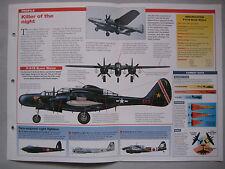 Aircraft of the World Card 4 , Group 11 - Northrop P-61 Black Widow