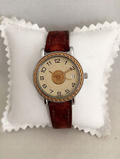 Montre Watch HERMES Sellier Or et acier PM