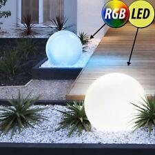 2x LED Außen Steck Leuchten SOLAR Kugel Lampen RGB Farbwechsel Garten Dekoration