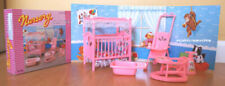 Gloria Dollhouse Furniture Nursery Room W/Bed Sheet Stroller Playset For Dolls