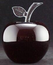 Apfel, Größe M in Bleikristall in Überfangtechnik UG 3433