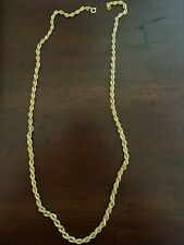 "Rope Chain Necklace 4mm - 30""  Gold Plated"