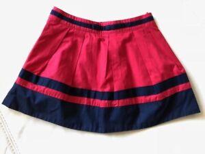 Girls Jacadi Cotton Red Navy Nautical Full Cotton Skirt Dress 6 Yrs Bonpoint NWT