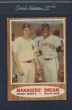 1962 Topps #018 Mickey Mantle Willie Mays VG/EX *83