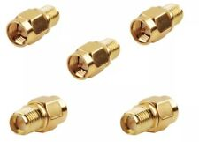5x RP-SMA Jack Male to SMA Plug Male RF Coax Connector Adapter for WiFi RouterUS