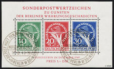 BERLIN 1949, Block 1 II, gestempelt mit ESST, Fotoattest Schlegel, Mi. 3500,-