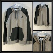 Adidas Gray on Gray Long Sleeve Full Front Zipper Hoodie Size (XL) XLarge #11392