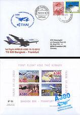 "FFC THAILAND board ""Airbus A380 Thai Airways 1st Flight Bangkok-Frankfurt"" 2012"
