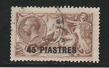 BRITISH LEVANT 1921 KGV SEAHORSES 45 PI ON 2/6