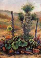 Desert, Cactus, Yucca, Gourds, Southwest, New Mexico, Arizona,   ACEO  by Vicki