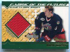 2002-03 Bowman YoungStars Jerseys RN Rick Nash Rookie Jersey Fabric Future (b)
