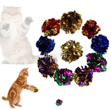 12pcs Small Mylar Balls Shiny Crinkle Cat Pet Lightweight Play Gift US