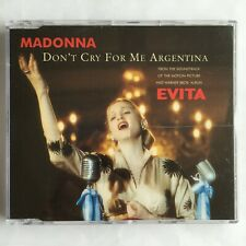 Madonna DON'T CRY FOR ME ARGENTINA Maxi CD (UK, 1996)