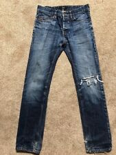 Celio Ripped Distressed Jeans button up 34