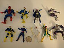 Marvel DC Comics PVC Figures 9 Vintage 90s Lot X-Men Avengers cake toppers