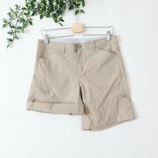 Orvis Women's Trout Bum Roll Tab Nylon Shorts Size 8 Brown
