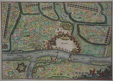 Mainz - Befestigungsplan der Belagerung 1689 - Merian - Original