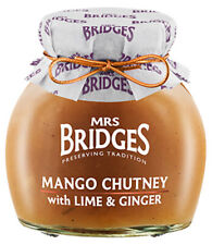 Luxury Mrs Bridges Mango Chutney with Lime & Ginger 290g - Product of Scotland