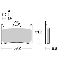 PASTIGLIE FRENO ANTERIORE DX-SX SBS 634DS YAMAHA ST 750 YZF R7 (OW02) 99/02 634