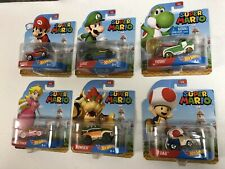 Hot Wheels 2016 Super Mario Brothers Entertainment Complete Set of 6 Htf