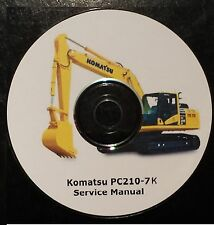 KOMATSU PC210-7K EXCAVATOR SERVICE MANUAL ON CD *FREE POSTAGE*