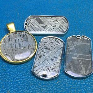 Meteorite pendant iron muonionalusta and Aletai amulet ZZ0360
