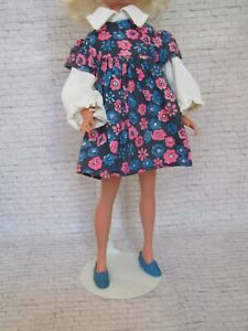 Sindy Doll 1972 Blouse and Smock Complete Outfit 12S118 - Excellent