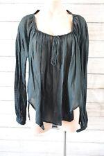ALISTAIR TRUNG top Sz Large 14 16 black stripe blouse tunic